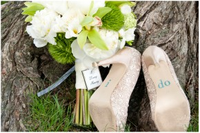 shoes and bouquet
