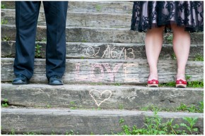 wedding date written on stairs Saskatoon
