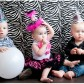 kids in birthday hats Zebra Theme