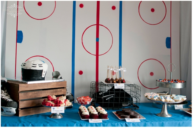 Oilers Themed Party Table